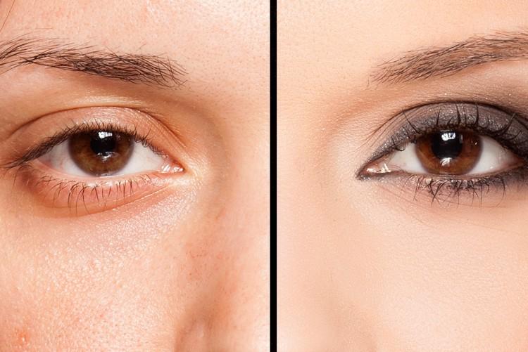 Vollretusche Haut und Augen