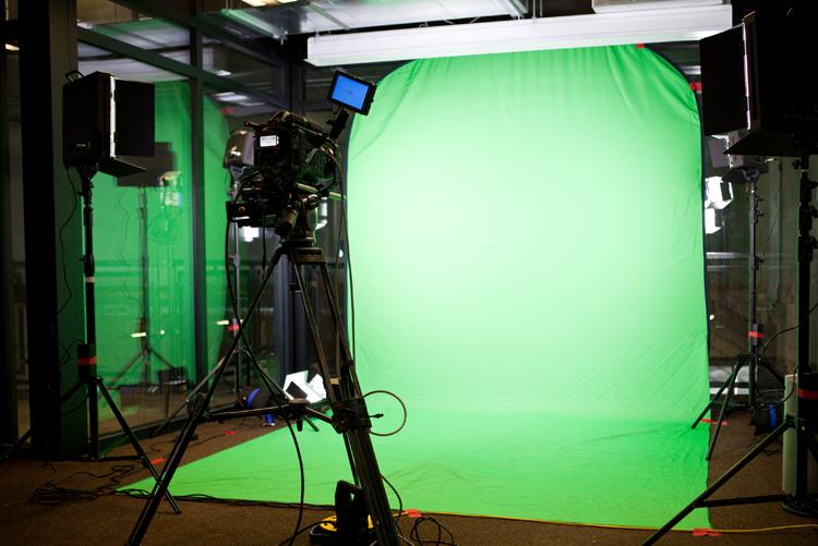 Unser Greenscreen in unserem Fotostudio