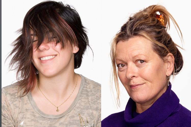 Frisuren, bei denen das Gesicht verdeckt werden, oder hochgesteckte Haare, sind für Bewerbungsfotos nur bedingt geeignet.