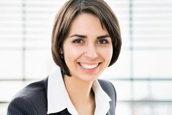 Business Porträt einer jungen Frau - hergestellt im Greenscreen-Verfahren