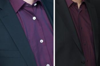 Störende und zu helle Hemdknöpfe ersetzen