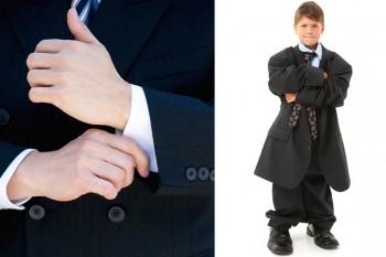 Achten Sie auf korrekte Kleidungsgrösse. Manschetten werden bei Hüft- und Ganzkörperbilder abgesteckt.
